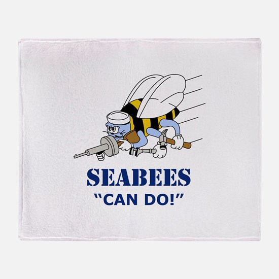 Seabees Can Do Throw Blanket