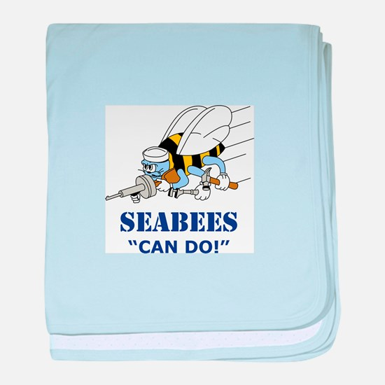 Seabees Can Do baby blanket