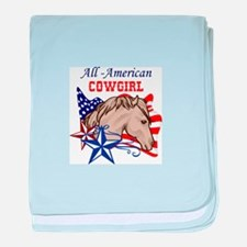 All American Cowgirl baby blanket