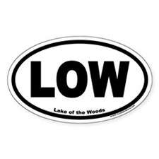 Lake of the Woods Euro Style Oval Decal