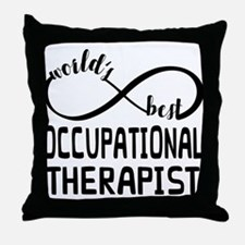 Worlds Best Occupational Therapist Throw Pillow