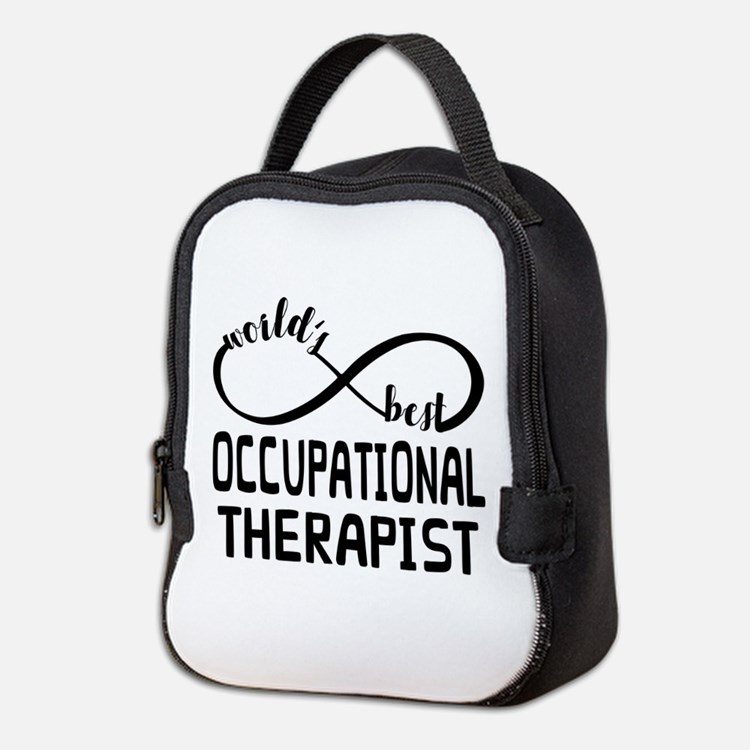 Worlds Best Occupational Therap Neoprene Lunch Bag