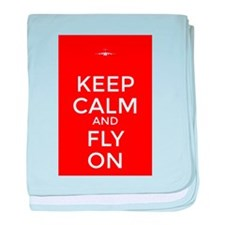 Keep Calm and Fly On baby blanket