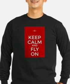 Keep Calm and Fly On Long Sleeve T-Shirt