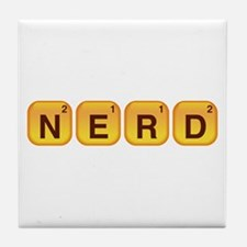 Words With Nerd Tile Coaster