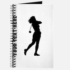 Woman Golfer (Custom) Journal