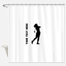 Woman Golfer (Custom) Shower Curtain