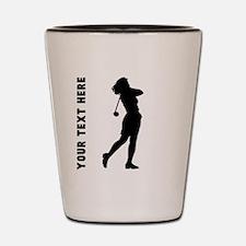 Woman Golfer (Custom) Shot Glass