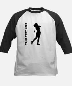 Woman Golfer (Custom) Baseball Jersey