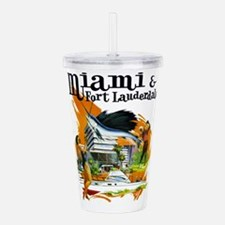 Miami & Fort Lauderdale Florida Acrylic Double-wal