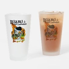 Miami & Fort Lauderdale Florida Drinking Glass