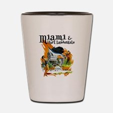 Miami & Fort Lauderdale Florida Shot Glass