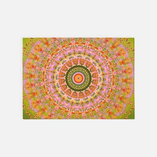 Happy Hippy Mandala 5'x7'Area Rug