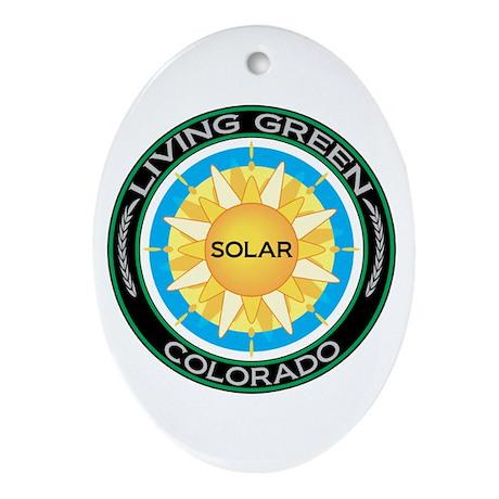Living Green Colorado Solar Energy Oval Ornament