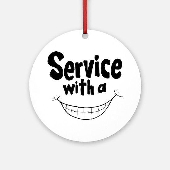 Cute Customer service Round Ornament