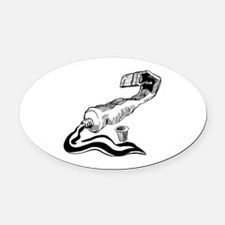 Funny Hobby Oval Car Magnet