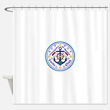 Monaco Yacht Club Shower Curtain