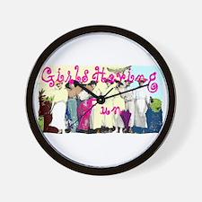 Girls Having Fun Wall Clock