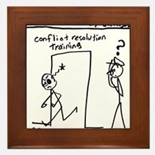'Cellfie' - Conflict resolution training Framed Ti