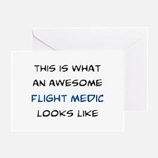 awesome flight medic Greeting Card