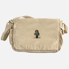 Jude Francis in the gray cocoon swea Messenger Bag