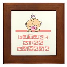 Future Miss Kansas Framed Tile