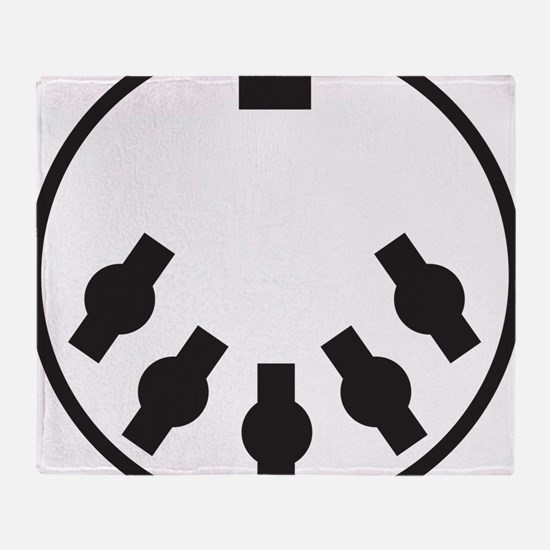 Cute Electronica Throw Blanket