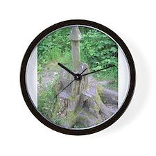 Wooden church Wall Clock