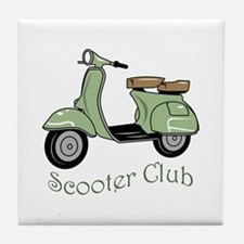 Scooter Club Tile Coaster