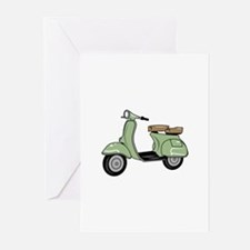 Motor Scooter Greeting Cards