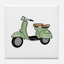 Motor Scooter Tile Coaster