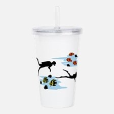 Scuba Diving Scene Acrylic Double-wall Tumbler