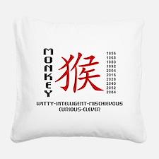 Chinese Zodiac Monkey Charact Square Canvas Pillow