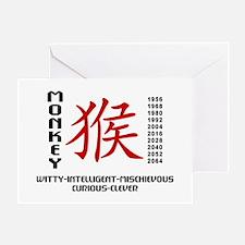 Chinese Zodiac Monkey Characteristic Greeting Card