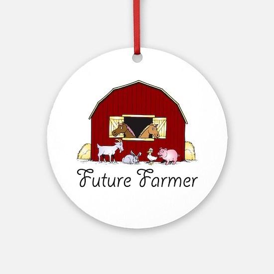 Future Farmer Barnyard Ornament (Round)