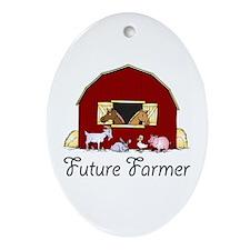 Future Farmer Barnyard Oval Ornament