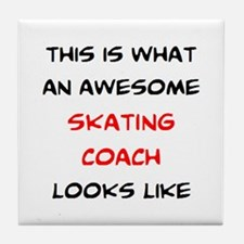 awesome skating coach Tile Coaster