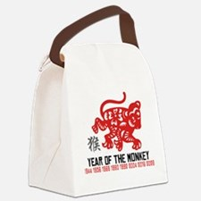 Chinese Zodiac Monkey Years Canvas Lunch Bag