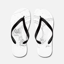 Bag End Hand Drawn Flip Flops