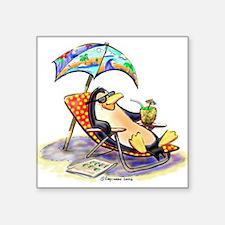 """Cool Penguin Square Sticker 3"""" x 3"""""""