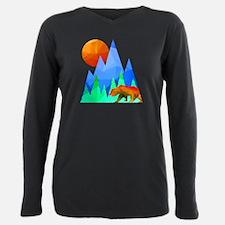 Bear Mountain Range Plus Size Long Sleeve Tee