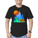 Bear fractal Fitted T-shirts (Dark)