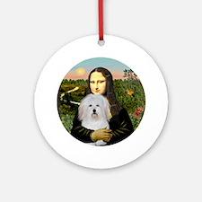 Mona Lisa - Coton De Tulear Round Ornament