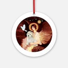 Angel1-Coton De Tulear. Round Ornament