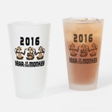 2016 Funny Year of The Monkey Drinking Glass