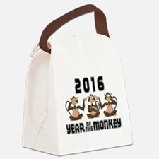2016 Funny Year of The Monkey Canvas Lunch Bag