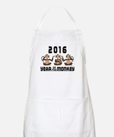2016 Funny Year of The Monkey Apron