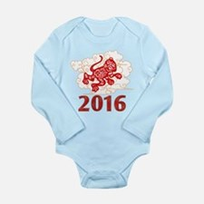 Paper Cut Year of The Long Sleeve Infant Bodysuit