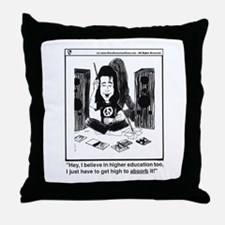 Funny Higher education Throw Pillow