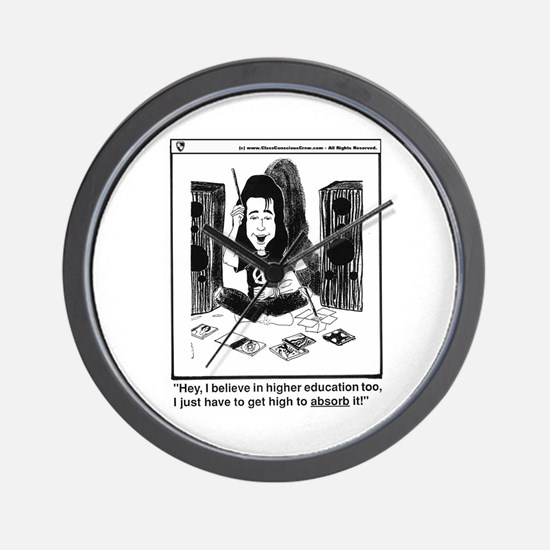 Funny Higher education Wall Clock
